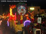 Krewe of Bacchus Title Float