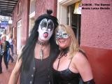 Demon & Blonde in Black Latex