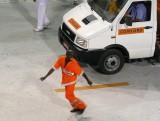 Street Cleaner Puts on Samba Show