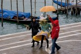 Rainy day in Venice Carnival