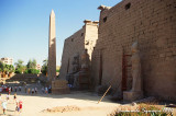 The Pylon of Ramesses II and the red granite obelisk
