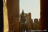 Inside the Great Court of Ramesses II
