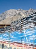 -Mountain and Mural-     Hwy. 395  California