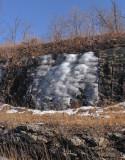 Frozen mini-waterfall