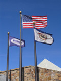 Flags outside the visitor center
