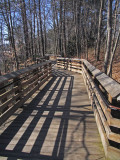 Boardwalk leading to the first overlook