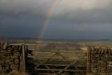rainbow and gate