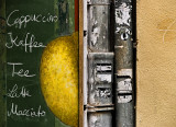 Blackboard and pipes