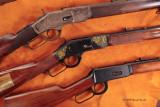 Gun trio on leather 4066