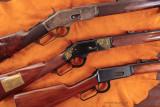 Gun trio on leather 4078