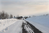 On the backroads with lots of snow!!