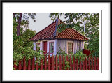 A very small guest house in a garden....