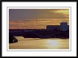 a golden sunset....
