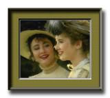 two ladies watercolor