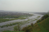Ramparts of the Holy Trinity and view at the meeting of the Zbruch and Dniester River