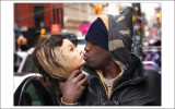 Man kissing dummy head