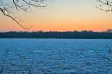 Blue Ice At Sunset