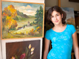 Emi In Grandma's Studio