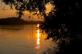 Summer Sunset At Wisla River