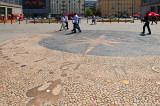 Sundial In Pavement