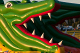 Green Monster Eating Cars