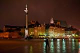 The Castle Square At Night & Rain