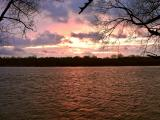 Cold River Sunset