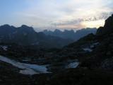 Abendstimmung am Cafa Valbones-Pass im Prokletije-Gebirge (Nordalbanien)