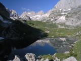 Morgenstimmung an den Liqeni i Jezerces Seen