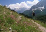Robert am Weg zurück ins Valbona-Tal