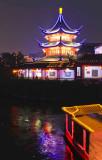 Pagoda by Nanjing Qinhuai River