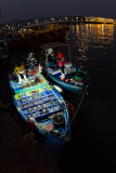 fish market on a boat
