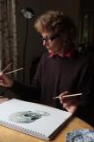 Ruth paints