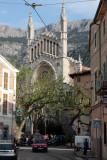 Soller church from tram