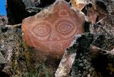 She Who Watches, a petroglyph/pictograph overlooking the Columbia River near The Dalles.