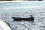 Rowing with one foot, Belitung