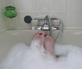 Out of bed into the bath :)