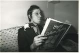 1978 - Opal - reading - rat on shoulder - Toronto