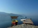 Ohrid one night near the big lack