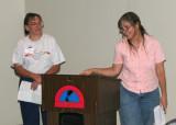 Presentation of scholarship and set of Burnham's to Prescott High School--Burnham's alma matter