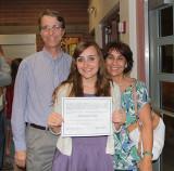 Haley with proud parents.