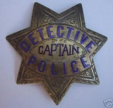 rare antique captain's badge