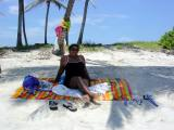 Mom relaxing on the beach
