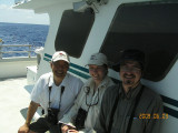 John, Carol and Kevin on Stormy Petrel II