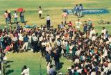 Michael Holding conducts end of Match Presentations