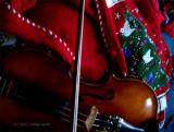 V for Violin & Christmas Vest.