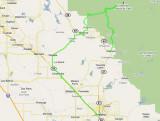 June 29 Route Driven Map