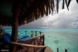 from the deck of an overwater bungalow
