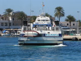In early July 2012, Balear Jet was introduced onto the Ibiza-Formentera Route - almost certainly diverted from her usual Mallorca-Menorca route as a replacement for the ill-fated Maverick Dos during the high season. Chartered from Interisles, she returned to Mallorca at the end of September 2012.