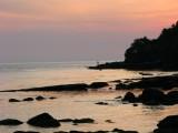 Sihanoukville beach at sunset